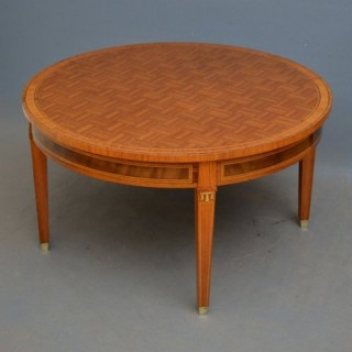 Early XX Rosewood and Inlaid Coffee Table