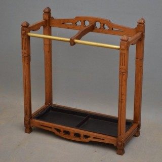 Arts and Crafs Oak Umbrella Stand