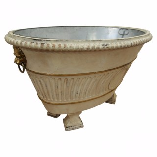 Neoclassical Style Carved Wooden Bath
