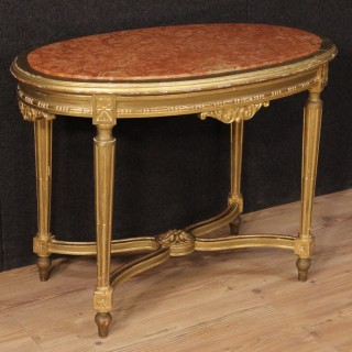 20th Century Italian Gilt Side Table In Louis XVI Style