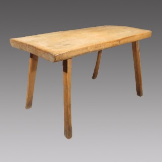 An Early 19th Century Sycamore Topped Primitive Dairy Table