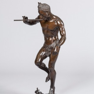 'The Snake Charmer' Bronze Statue By Baron Charles Arthur Bourgeois