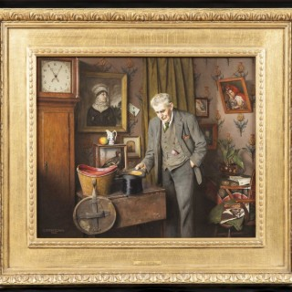 'His Old Wedding Hat' Painting by Charles Spencelayh