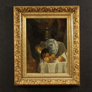 19th Century Flemish Still Life Painting