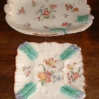 12 Longchamps Asparagus Plates & Server