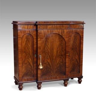 Early 19th century figured mahogany breakfront sideboard