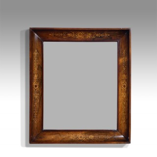 19th century marquetry wall mirror