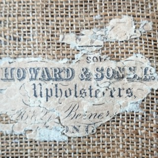 Antique Footstool By Howard And Sons Of London
