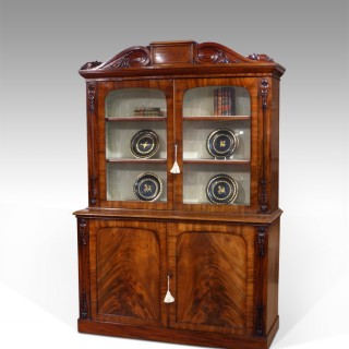 Early 19th century mahogany bookcase cabinet