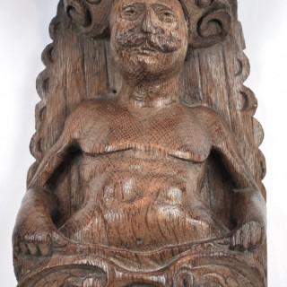 17th century Flemish oak caryatid