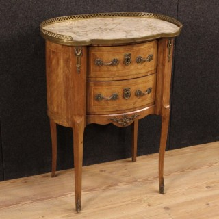 20th Century French Night Stand In Rosewood With Maple Thread