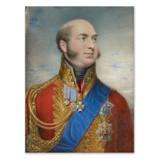 Prince Edward, Duke of Kent and Strathearn (1767-1820) wearing Field Marshal's uniform, blue sash and breast-star of the Order of the Garter, jewel and breast-stars of the Order of Bath, St Patrick and the Royal Guelphic