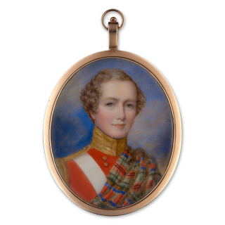 Portrait miniature of George Ramsay Perceval (1821-50), wearing the uniform of the 72nd Highland Regiment of Foot