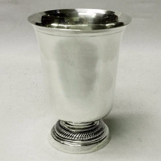 Antique French Silver Beaker