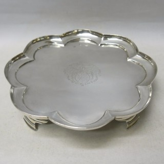 Queen Anne Irish Silver Octofoil Salver