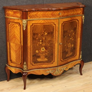 20th Century French Inlaid Sideboard Decorated With Bronzes