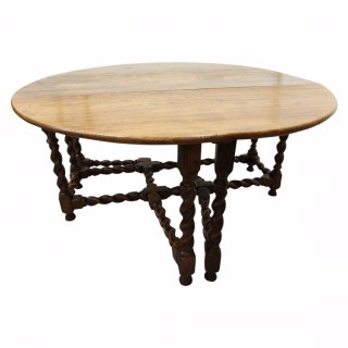 Early 18th Century Oak Gateleg Table