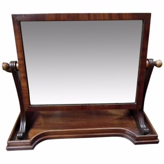 Mein of Kelso Mahogany Toilet Mirror