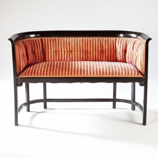 A Matched Pair of Ebonised Viennese Settees by Kohn