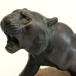 Meiji period bronze tiger