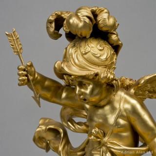 'L'Enfant Guerre' -  An Important Gilt-Bronze Figure