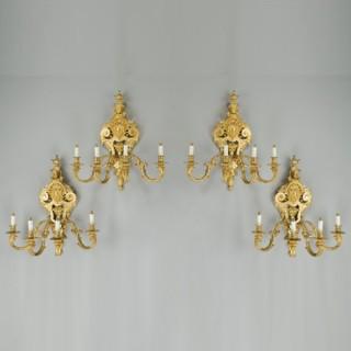 Antique bronze wall lights