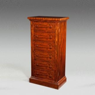 Victorian antique Wellington chest