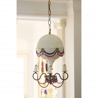 A mid century French  fantasy balloon chandelier