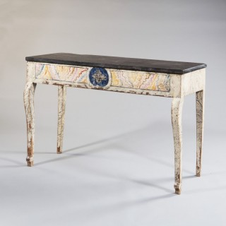 A french provincial empire painted console table