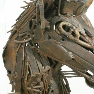 Contemporary Metal Animal Sculpture.