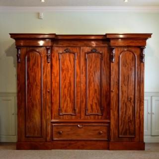 Victorian Mahogany 4 Door Wardrobe