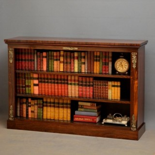 Regency Rosewood Low Open Bookcase