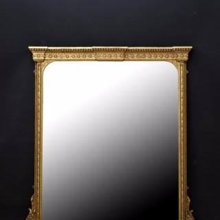 Large English Giltwood Mirror