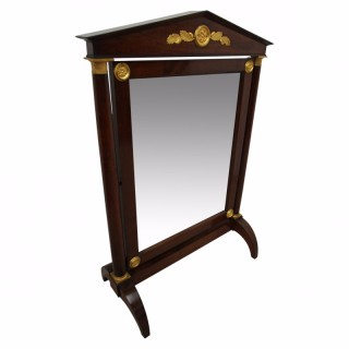 Low Biedermeier Cheval Mirror