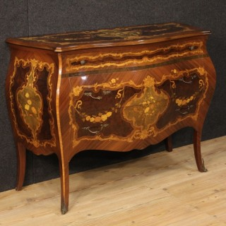 20th Century Dresser In Louis XV Style With Floral Inlay