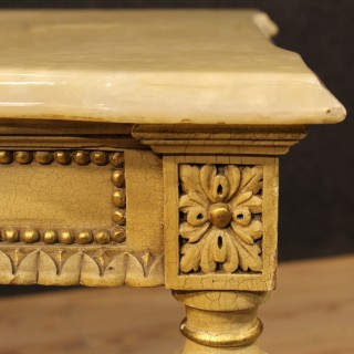 20th Century Italian Lacquered And Gilt Coffee Table