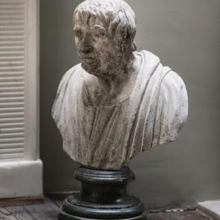 A George III Lead Bust Of Seneca