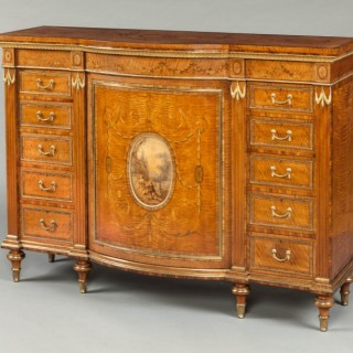 Satinwood Side Cabinet in the Manner of Robert Adam