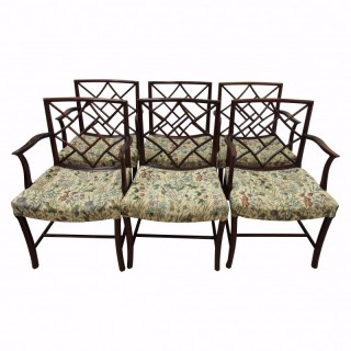 Set of 6 George III Style Cockpen Armchairs