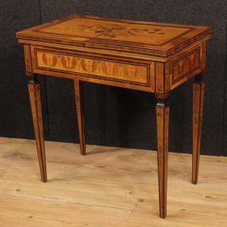 20th Century Italian Inlaid Side Table