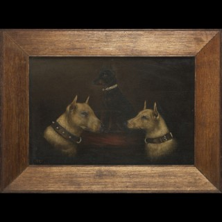 An antique Victorian animal portrait