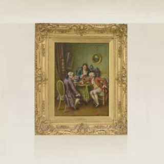 Antique oil painting by Georges Dupre