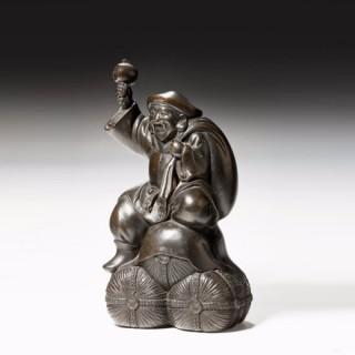 An antique Japanese bronze of Diakoku