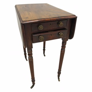 George III Figured Mahogany Drop Leaf Table