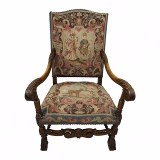 Continental Easy Chair with Tapestry Covering