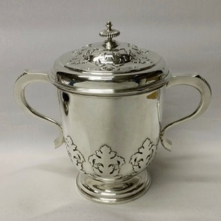 Large Vintage Silver Cup and Cover