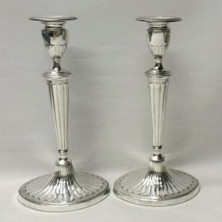 Pair of Georgian Silver Candlesticks