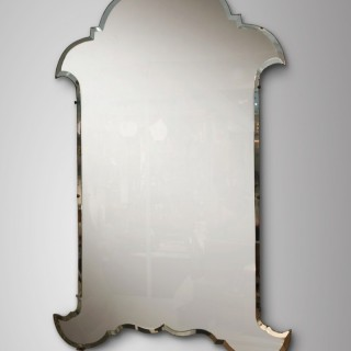 A MONUMENTAL ART - DECO  MIRROR