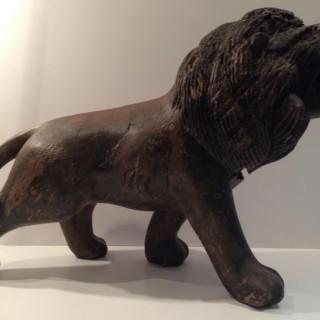 Antique Carved Lion.