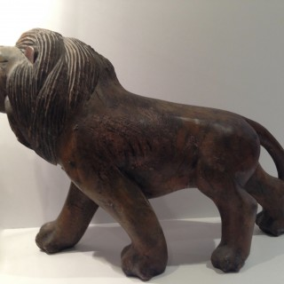 Antique Carved Lion.